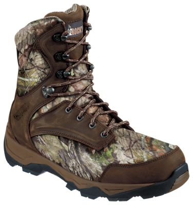 ROCKY Retraction Thinsulate Waterproof Insulated Hunting Boots for Men – Dark Brown/Mossy Oak Country – 10 M
