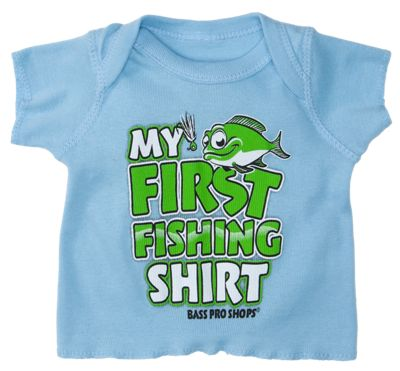 Bass pro shops my first fishing shirt for baby boys bass for Bass pro shop fishing shirts