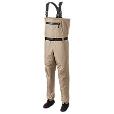 White River Fly Shop Classic Chest-High Stocking-Foot Breathable Waders for Ladies