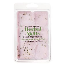 Swan Creek Candle Co. Herbal Melts Scented Melting Wax - Fresh Strawberry