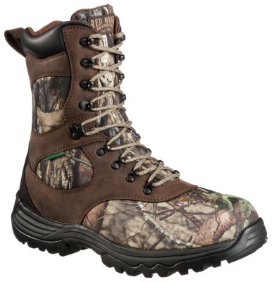 RedHead Expedition Ultra BONE-DRY Insulated Waterproof Hunting Boots for Men – Brown/Mossy Oak Break-Up Country – 10 M