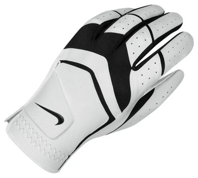 Nike Mens Dura Feel Golf Glove Regular Xx-Large Left White/Black