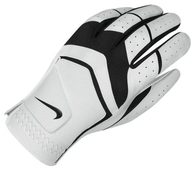 Nike Mens Dura Feel Golf Glove Cadet Medium/Large Left White/Black