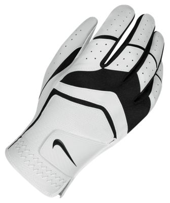 Nike Mens Dura Feel Golf Glove Regular Medium/Large Right White/Black