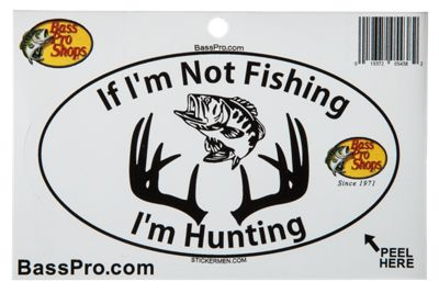 Bass Pro Shops Fishing and Hunting Oval Decal thumbnail