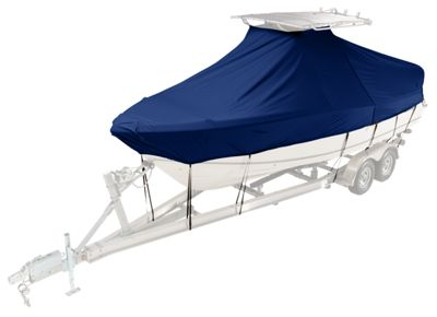 Taylor Made Boston Whaler Custom T-Top Boat Cover - Dauntless 180 - Low Rail No Roller Single Engine - Navy Weathermax Fabric