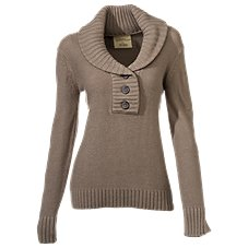 Natural Reflections Shawl Collar Sweater for Ladies