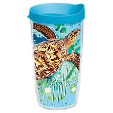 Tervis Tumbler Guy Harvey Turtle Splatter Insulated Wrap With Lid