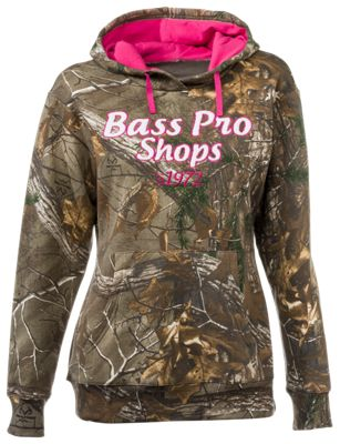 Bass Pro Shops Chenille Logo Camo Hoodie for Ladies – Realtree Xtra – L