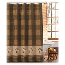 Ducks Unlimited Plaid Collection Shower Curtain