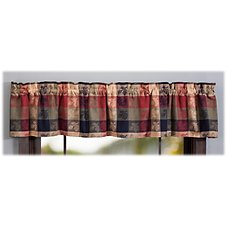 Park Designs Plaid Pinecone Valance