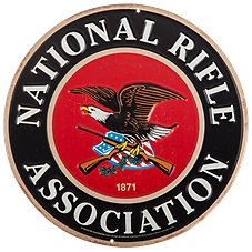 Open Road Brands National Rifle Association Embossed Die-Cut Tin Sign