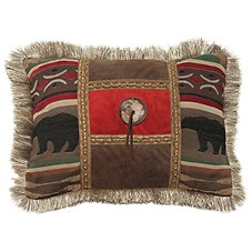 Backwoods Collection Woven Bear Throw Pillow