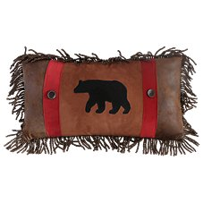 Backwoods Collection Rambling Bear Throw Pillow