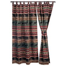 Backwoods Collection Woven Tab Top Drapes