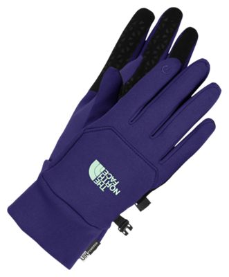 7a78249a4 The North Face Etip Gloves for Ladies Garnet PurpleSurf Green XS