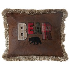 Cedar Hills Collection Bear Throw Pillow