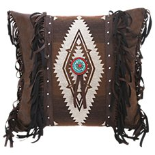 Pecos Trail Collection Medallion Blanket Throw Pillow
