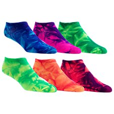 RedHead No-Show Tie-Dye Socks for Girls - 6-Pair Pack