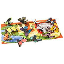 Wild Republic Nature Tube of Butterfly Figurines with Playmat