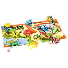 Wild Republic Nature Tube of Frog Figurines with Playmat