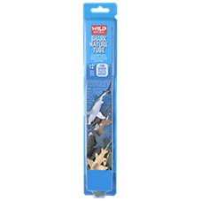 Wild Republic Nature Tube of Shark Figurines with Playmat