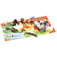 Wild Republic Nature Tube of North American Animal Figurines with Playmat