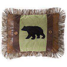 Bob Timberlake Cedar Lake Collection Bear Applique Throw Pillow