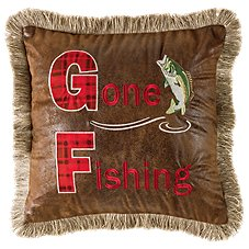 Bob Timberlake Gone Fishing Throw Pillow
