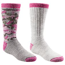 RedHead Camo Fuchsia Cub Kids Socks - 2-Pair Pack