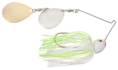 Bass Pro Shops Slo-Roller Double Colorado Magnum Spinnerbait - 1/2 oz. - Chartreuse White