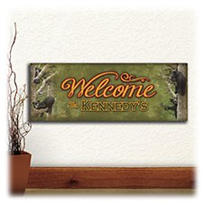 Bear Cubs Welcome Sign Personalized Block Mount Artwork by Scott Kennedy