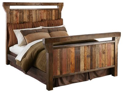 Barnwood Bedroom Furniture Collection Wood Bed Full