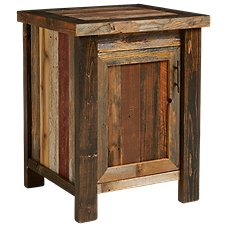 Barnwood Bedroom Furniture Collection Conceal Top Nightstand