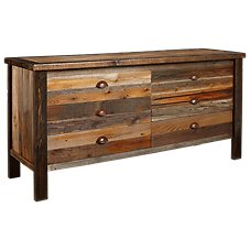 Barnwood Bedroom Furniture Collection 6-Drawer Dresser