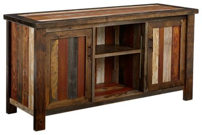 Barnwood Furniture Collection Flat Screen TV Stand