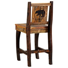 Barnwood Dining Room Furniture Collection Bear Barstool