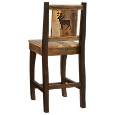 Barnwood Dining Room Collection Deer Barstool