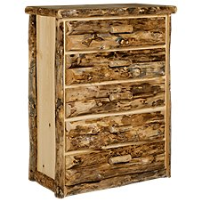 Natural Wood Bedroom Furniture Collection 5-Drawer Chest