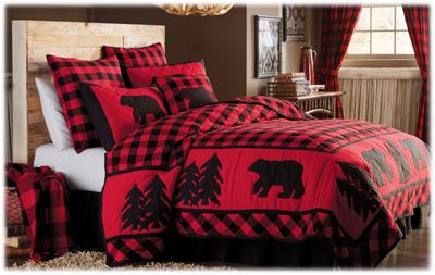park designs buffalo check bedding collection black bedskirt bass pro shops. Black Bedroom Furniture Sets. Home Design Ideas