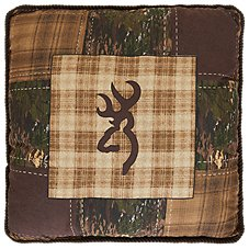 Browning Country Collection Patchwork Buckmark Throw Pillow