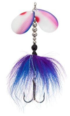 Bass Pro Shops Muskie Angler Inline Spinner - Electric Blue Purple thumbnail