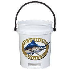 Offshore Angler Logo 5-Gallon Plastic Bucket with Rope Handle