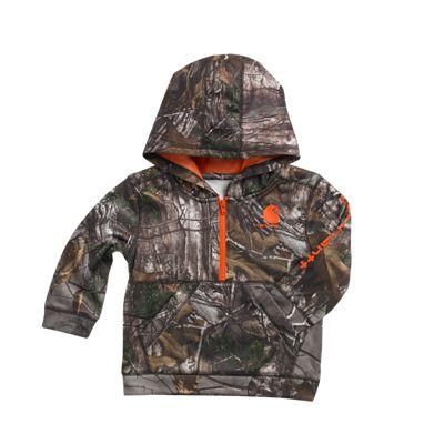 Carhartt Camo 1/2 Zip Fleece Sweatshirt for Toddler Boys Realtree Xtra/Brown 2T
