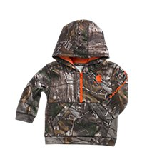 Carhartt Camo 1/2-Zip Fleece Sweatshirt for Toddler Boys