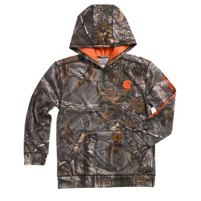 Carhartt Camo Hooded Sweatshirt for Boys Realtree Xtra S