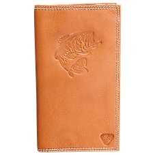 Bass Pro Shops Embossed Bass Roper Style Leather Wallet