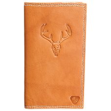 Bass Pro Shops Embossed Skull Roper Style Leather Wallet