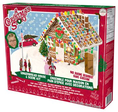 A Christmas Story Pre-Baked Gingerbread House and Scene Kit