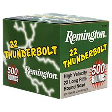 Remington Thunderbolt .22 LR Rimfire Ammo